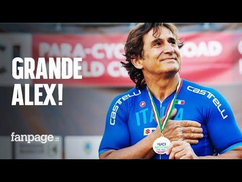 Alex Zanardi, buone notizie: vede, sente e stringe la mano di sua moglie Daniela