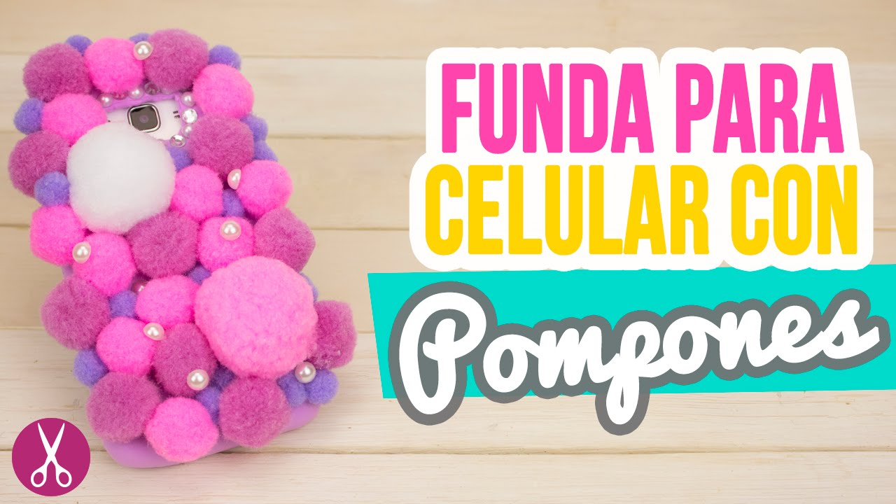 Haz una funda para celular casera de foami con pompones funda para movil catwalk youtube - Como decorar una funda de movil ...