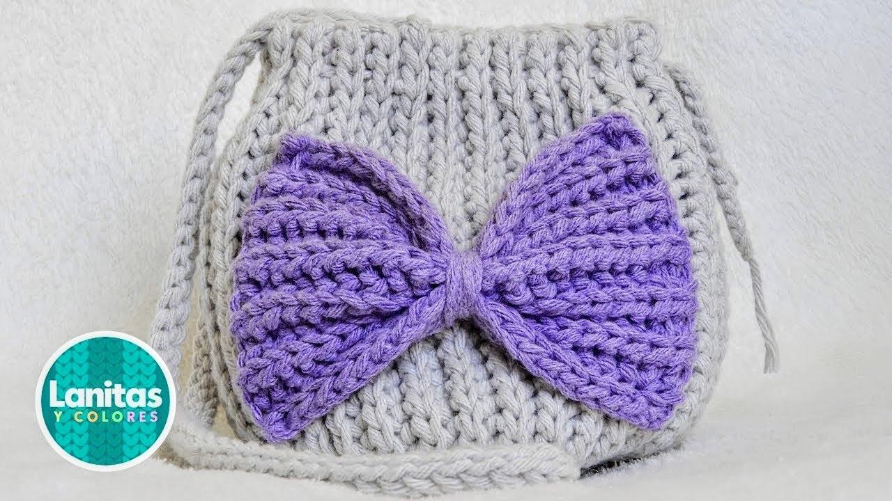 ADORABLE BOLSITA tejida a crochet o ganchillo para NIÑAS | Lanitas y Colores