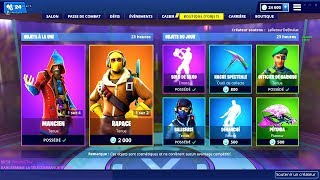 BOUTIQUE FORTNITE du 15 Janvier 2019 ! ITEM SHOP January 15 2019 !