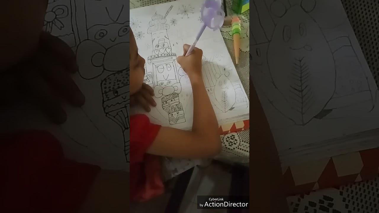Learn Doodle Art Drawing N Colouring Belajar Gambar Mewarnai