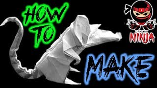 How to make: Origami Rat