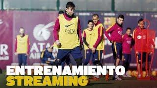 Entrenamiento del FC Barcelona previo al partido con el Levante UD