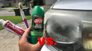 The TRUTH about OFF & Toothpaste vs Headlights! (+Update on WD 40)