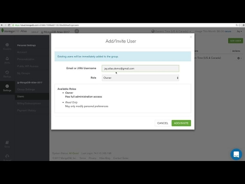 [Tutorial] Adding users to your MongoDB Atlas group