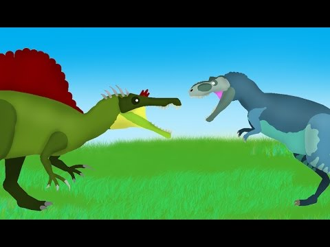 Dinosaurs Cartoons Battles: Albertosaurus vs Oxalaia. Динозавры Мультфильм DinoMania