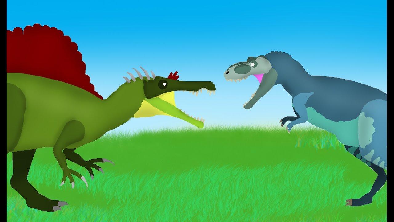 Dinosaurs Cartoons Battles: Albertosaurus vs Oxalaia ... Dinosaurs T Rex