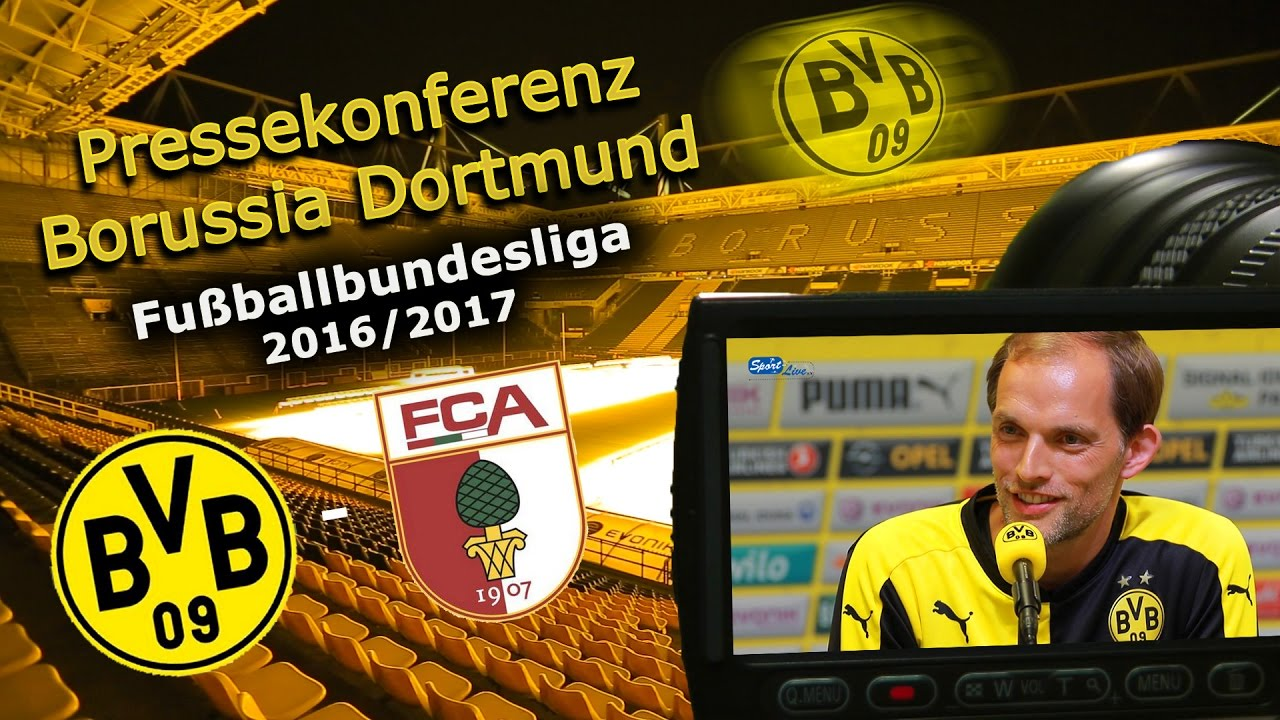Borussia Dortmund - FC Augsburg: Pk mit Thomas Tuchel