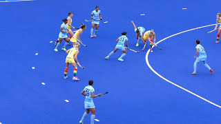 India v Australia final womens hockey 2nd quarter