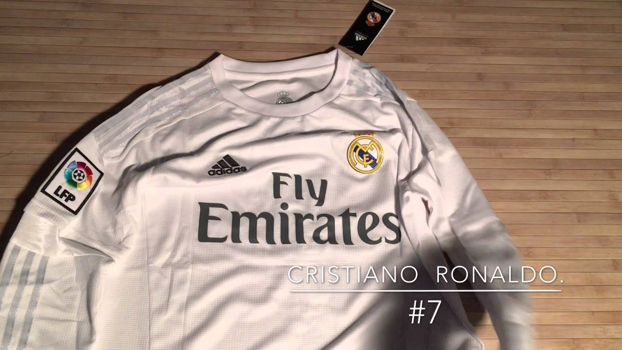 half off eaf20 e6e7d Umboxing #7 Ronaldo Real Madrid Jersey Aliexpress