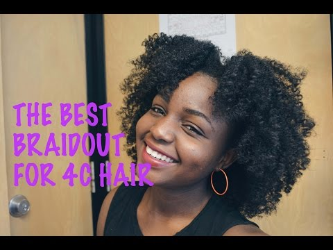 THE BEST BRAIDOUT TECHNIQUE FOR 4C HAIR
