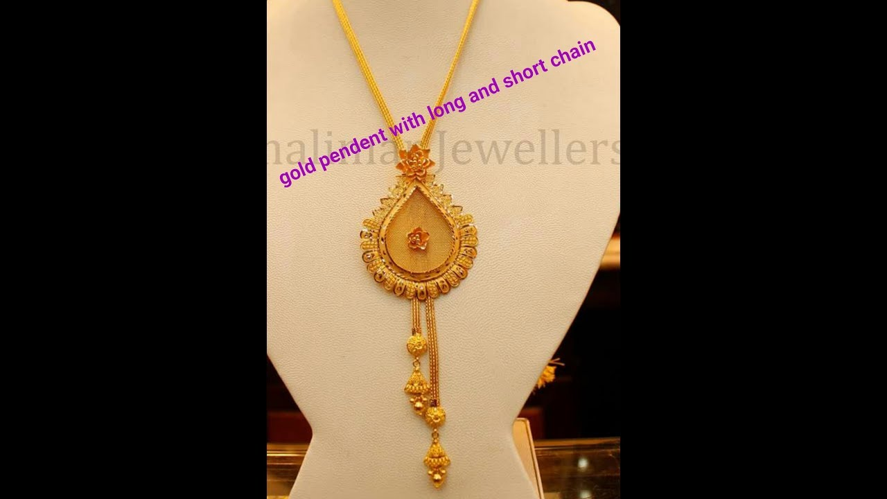 22k gold pendant designs with long and short chain youtube 22k gold pendant designs with long and short chain aloadofball Gallery