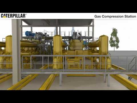 Caterpillar Global Petroleum | Gas Compression Station (Animated)
