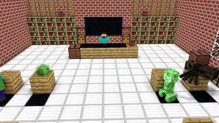 Minecraft school #3 CRANNY HORROR CAME CHALLENGE
