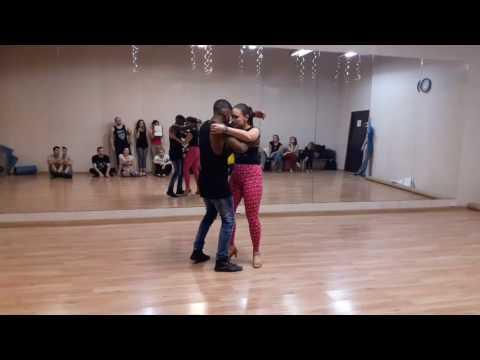 Walter Fernandes & Oksana Andreeva - Zouk Demo after advanced class 16.02.2017
