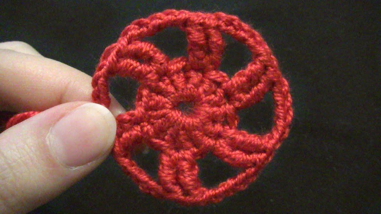 Kreis häkeln - als Grundlage z.B. für Häkelblume oder Schneeflocke ...