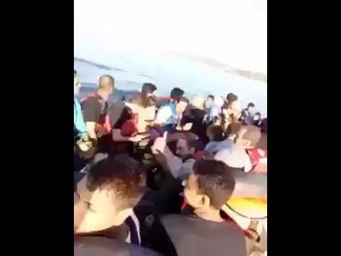 There's a lot of smartphones on this boat of 'refugees' on its way to Europe!