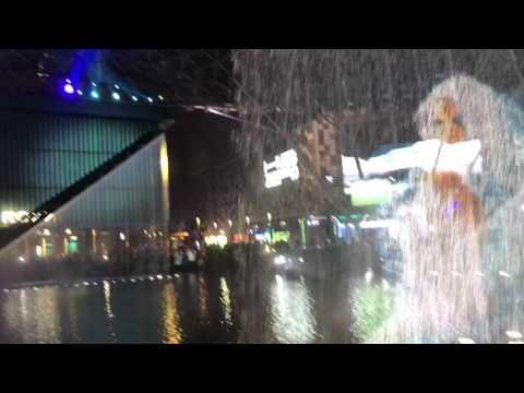 Fountain and water show at city walk , Dubai