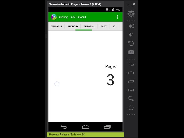 Xamarin Android Tutorial   10   Sliding Tab Interface