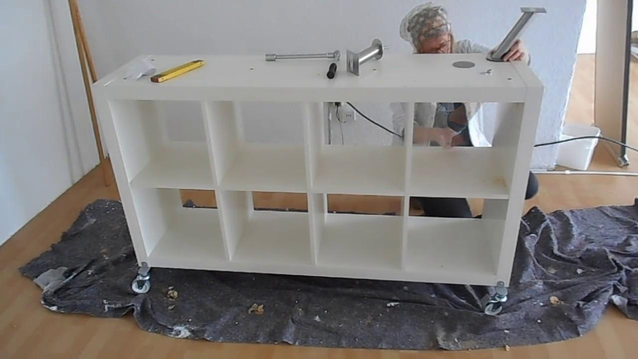ikea hack thekenbau youtube. Black Bedroom Furniture Sets. Home Design Ideas