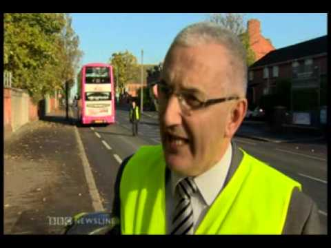 Bus and Bike Travelling in harmony BBC Newsline 07 11 13