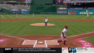 Dr. Anthony Fauci tosses out first pitch