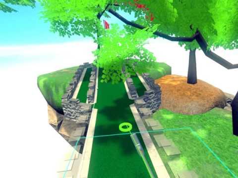 Virtual Reality Mini Golf Level Editor - Cloudlands beta - HTC Vive