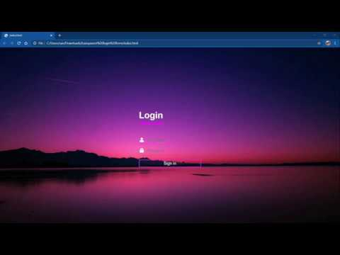 How To Make A Transparent Login Page  | Using Html And Css |