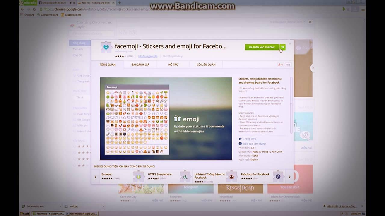 Hướng dẫn cài đặt icon facemoji trên facebook