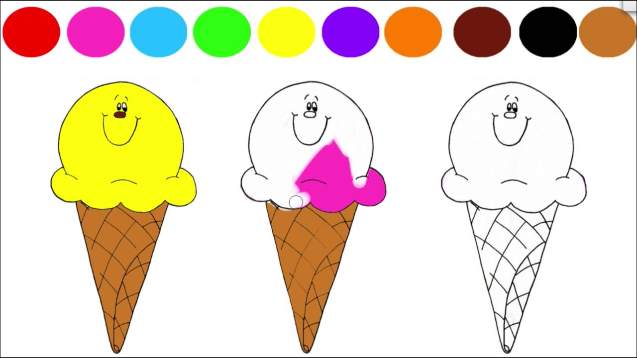 ice cream coloring pages youtube