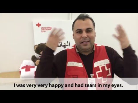 Syrian refugee becomes Red Cross employee