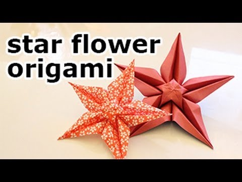 Origami Star Flower Tutorial