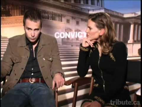 "Sam Rockwell & Hilary Swank (""Conviction"") Interview"