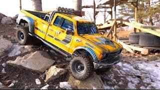 Bumblebee-St On Backyard Course! Transformers Bizarro World Cross Pg4l Dually Truck | Rc Adventures