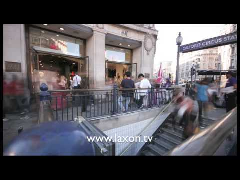 Panning Time Lapse of Oxford Circus Tube