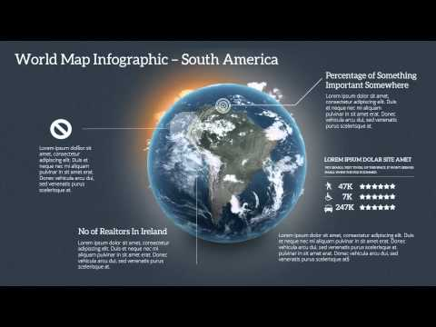 World Map PPT Infographic Animated Template