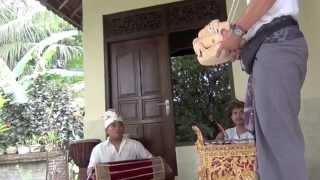 Bali: BARONG dance & Balinese DRUM by Pasek Putra Jaya & Eka Udyana in SINGAPADU by Hans & Fifi
