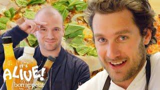 Download Brad and Sean Evans Make Cast-Iron Pizza | It's Alive | Bon Appétit Mp3 and Videos