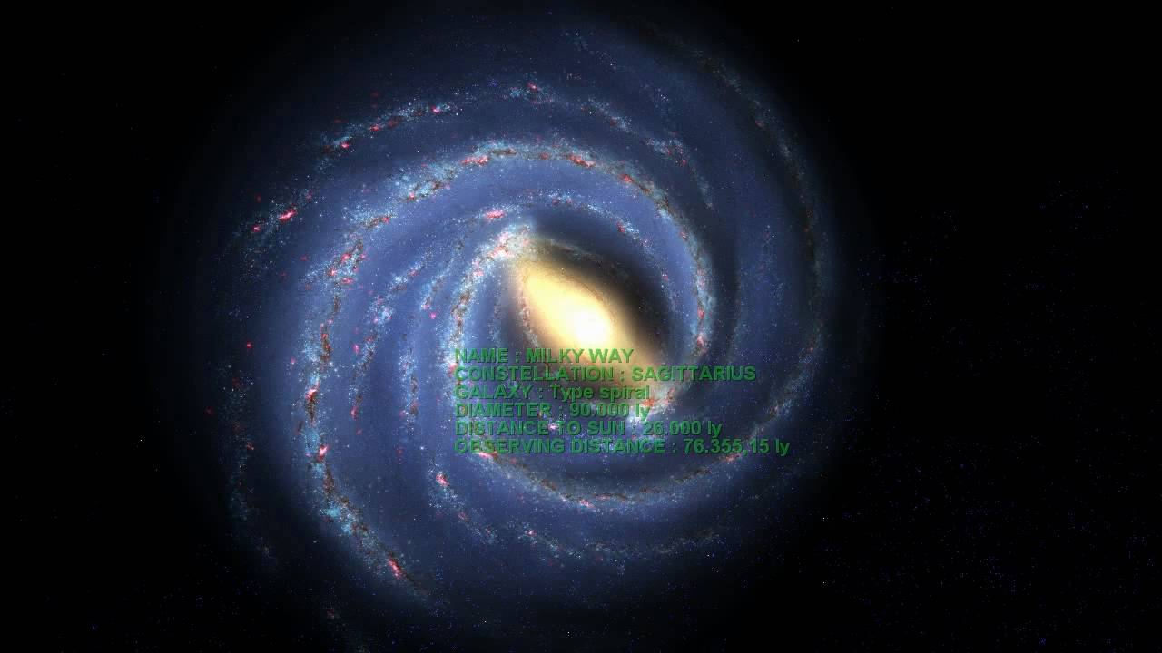 distance of milky way and the solar system - photo #45