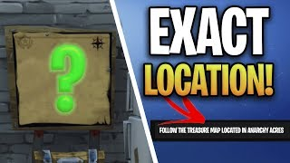 Fortnite: Follow the TREASURE MAP found in ANACHRY ACRES! (WEEK 5 BATTLE PASS CHALLENGES)