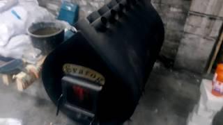 """Мощная печь булерьян """"Svarog"""" (50 кВт). Отопление мастерской. Опыт эксплуатации."""