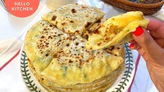Вместо Пирожков Лепешки на сковороде Хычины с картошкой и сыром