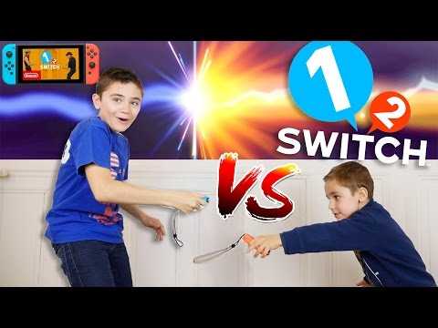 NINTENDO 1-2 SWITCH CHALLENGE entre Frères : Harry Potter VS Voldemort