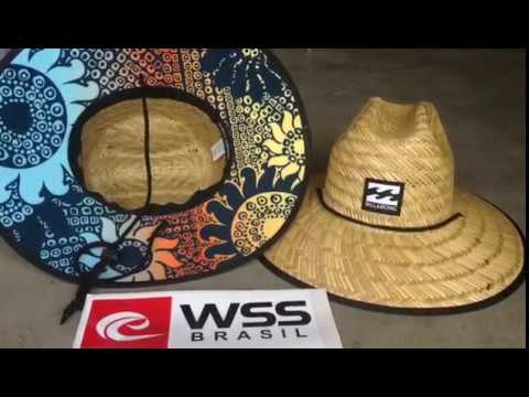 Chapéu de Palha Surf Billabong Tides Pipe Print - YouTube da95a6067ba