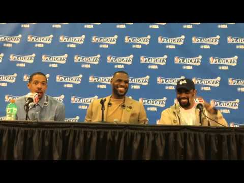 LeBron James, Kyrie Irving And Channing Frye Game 3 Post Game Conference Pt.1