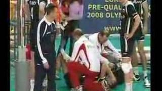 Mariusz Wlazły kontuzja kostki [www.volleyball-movies.pl]