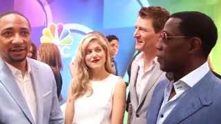 The Player: Damon Gupton, Charity Wakefield & Wesley Snipes 2015 NBC Upfronts Interviews