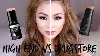 makeup forever ultra hd vs elf foundation stick   review demo wear test