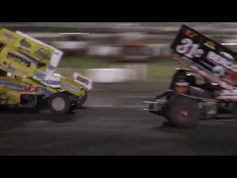 Sprint Car crash @ Silver Dollar Speedway (60fps)
