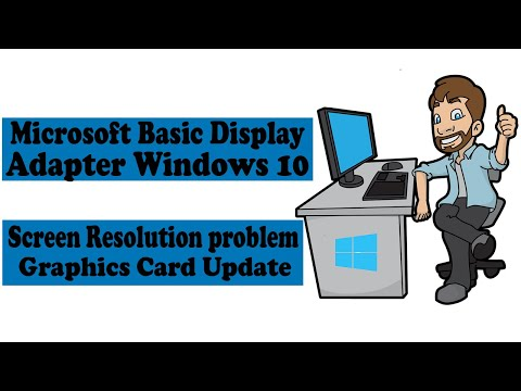 How To Update Display Adapter Windows 10/Screen Resolution Problem/Graphics Card Update.